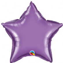 "Purple Chrome Foil Balloon (20"" Star) 1pc"